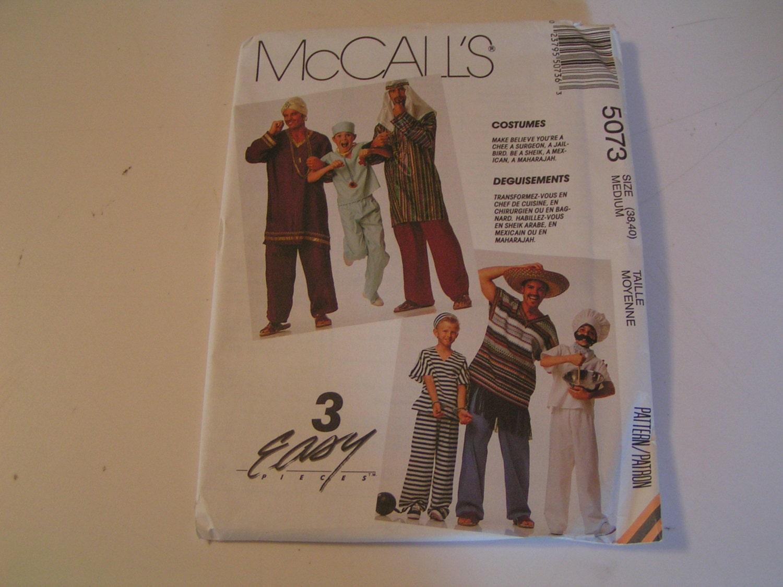 Vintage McCalls Muster 5073 Männer Kostüm Koch Chirurg