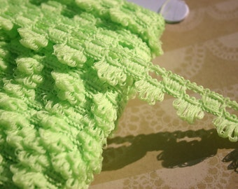 "Green Braid Trim - Fringe Sewing Braided Ribbon Lace - 5/8"" Wide - 4 Yards"