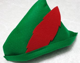 PARTY PACK Peter Pan / Robin Hood Felt Hat Party Favor