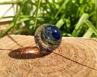 Handmade Galaxy Marble,Glass Marble, Glass Orb, Boro Marble, Large Marble, Collectible Marble, Handmade Glass Marble, Vortex Marble