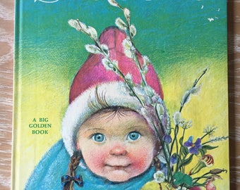 The Wonders of the Seasons by Bertha Morris Parker illustrations by Eloise Wilkin 1974 printing A Big Golden Book
