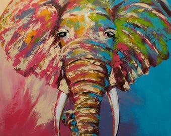 "African Elephant 16x20"" Art Print"