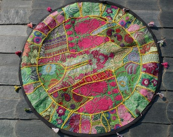 Bohemian tapestry, mandala tapestry hippie home decor, round table cover round ethnic wall hanging runner, hippie boho decor shanti gypsy