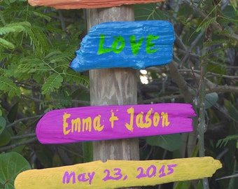 Personalized Wedding Gift Names Date Rustic Street Sign Photograph Anniversary Valentines Day Invitation Photo pp43