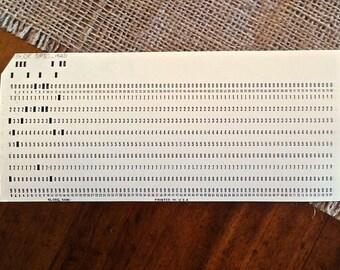 Computer Punch Cards, Vintage Paper Ephemera (lot of 10)