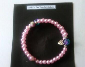 Bracelet spiral adjustable beaded