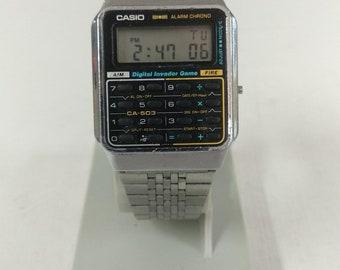 Casio CA-503 Calculator Game Watch Module 433 Digital Invader Fire Game