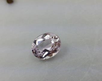 Natural Loose Kunzite, Cut Gemstone Kunzite, Faceted Gemstone Oval Cut 2.25 Cts