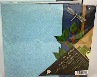 Prova Craft 8x8 Premade Blue Dragonfly Scrapbook