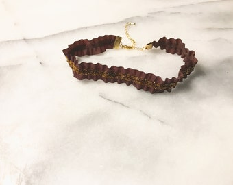 Brown Choker With Brown Sparkle