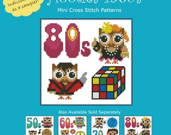 Hooties 1980s Cross Stitch Pattern PDF Chart