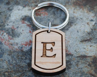 Letter E Initial Keychain