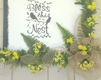 Bless This Nest Canvas Art