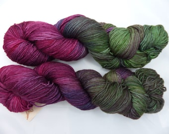 Merino Wool, superwash, handdyed