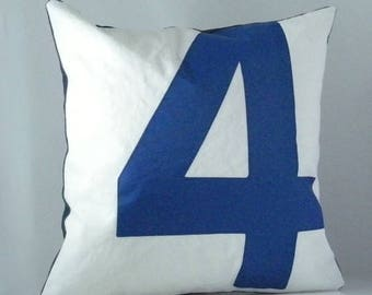 Nautical Recycled Sail Blue 4 Pillow