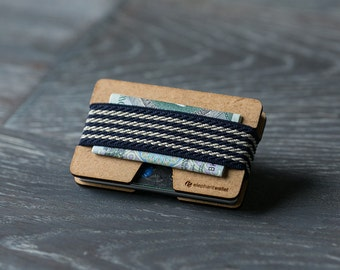 Minimalist wooden wallet, credit card wallet, women's and men's wallet, minimalist slim wallet, modern design wallet, N wallet