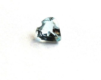 3.25mm Heart Shaped Blue Topaz Loose Gemstone of .08 Carats