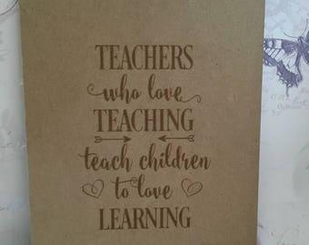Teacher clipboard, teacher appreciation gift, teacher thank you, teacher gift