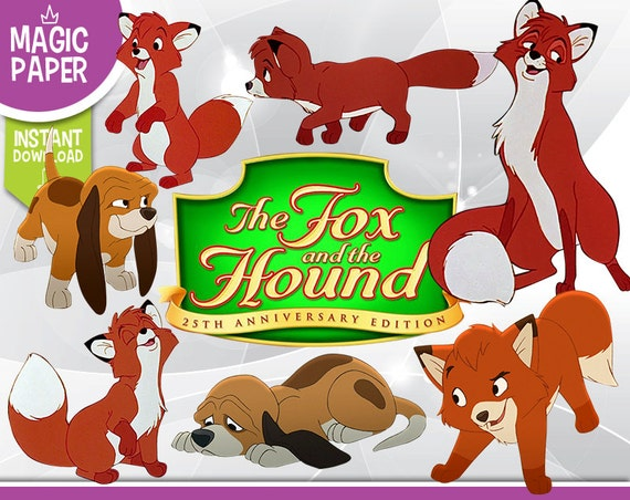 The Fox and The Hound Clipart Disney Digital 300 DPI PNG