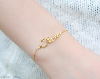 Custom dainty name bracelet - tiny name bracelet -  mini name bracelet - mini name jewelry - small charm bracelet