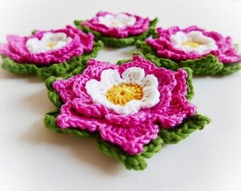 Set of Two Adelie Crochet Flower