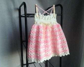 Crochet PATTERN - baby dress crochet pattern, easy baby dress, crochet baby dress, summer crochet baby dress, easy crochet pattern