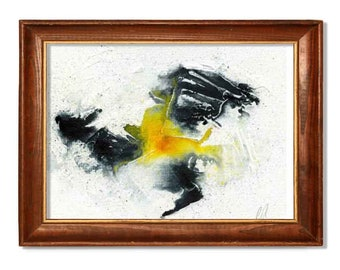 Black and yellow abstract,Abstract painting, Abstract Art, Abstract Wall Art, Modern Painting, Modern art, home decor, Wall Decor
