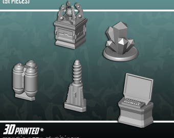 Objective Markers, Terrain Scenery for Tabletop 28mm Miniatures Wargame, 3D Printed and Paintable, EnderToys