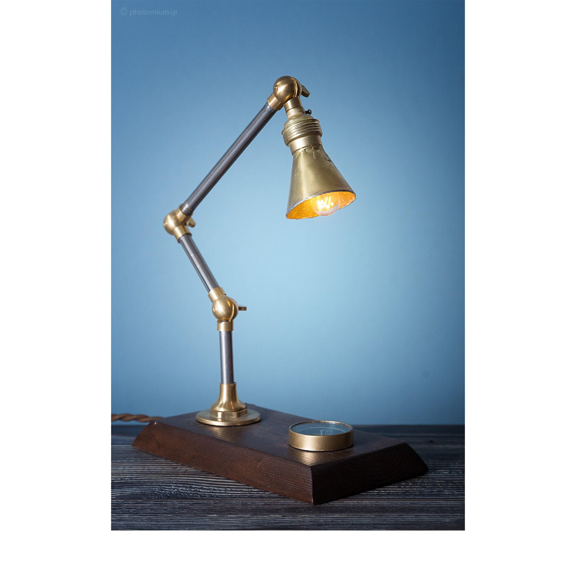 Metal table lamp handmade lighting steampunk lamps wooden lamp metal table lamp handmade lighting steampunk lamps wooden lamp edison bulb table lamp pendant lighting handmade lamp vintage arubaitofo Gallery