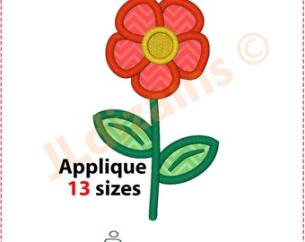 Flower Embroidery Design. Embroidery applique flower. Flower applique design. Embroidery design flower. Machine embroidery design.