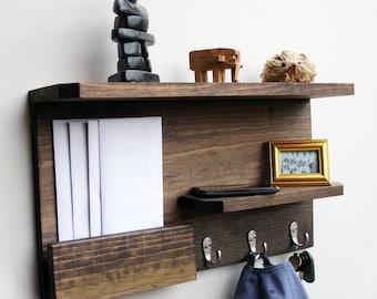 Entryway organizer, Entryway Shelf, Entryway Coat rack