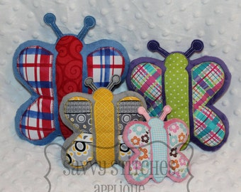 Butterfly ITH Plushie Machine Embroidery Design