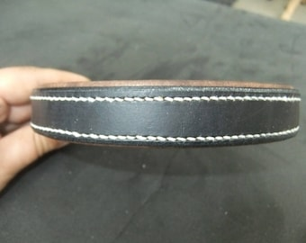 20 mm black and Brown, leather dog collar