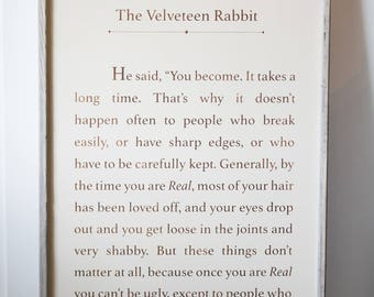 The Velveteen Rabbit - Wood Sign