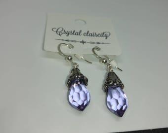 lavender purple crystal earrings