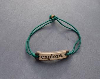 Handmade Pottery bracelets by Mudlove (gift idea, adventure, explore, alive, thrive, travel, shop for a cause, handmade jewelry, gypsy boho