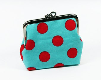 Framepurse Kisslockpurse Metalframepurse Pouch Cosmeticbag Wallet Dots Gift for her