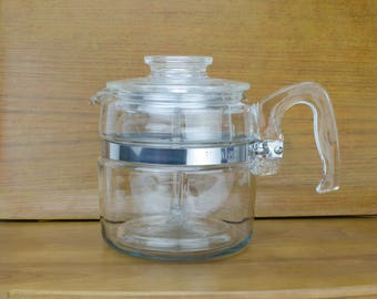Pyrex 4 cup Flameware Coffee Pot, 7754 B, Pyrex 4 Cup Percolator
