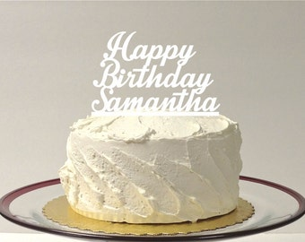 MADE In USA, Happy Birthday Cake Topper, Personalized Birthday Cake Topper, Custom Birthday Cake Topper, Happy Birthday Cake Topper Party