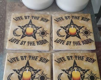 Coaster Set- Live by the Sun, Love by the Moon