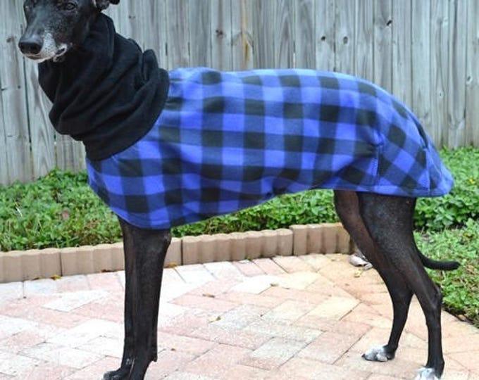 """Greyhound Coat. """"Blue Buffalo Plaid Cocoon Coat"""" - Greyhound Sizes"""