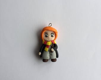 Fimo Ron weasley harry potter inspired necklace