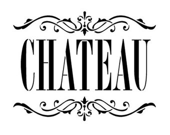 Chateau Word Art Stencil - Skinny Classic - Select Size - STCL912 - by StudioR12