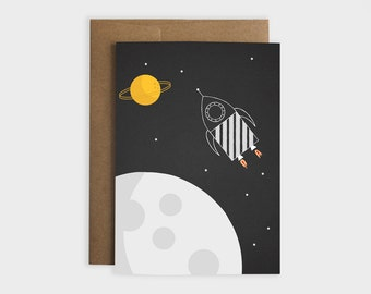 Space Rocket Greeting Card