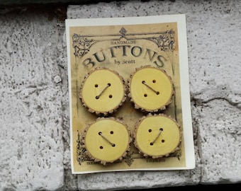 4 Large Hand Made Branch Buttons