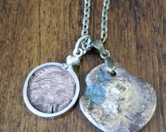ANCIENT ROMAN Double COIN Pendants