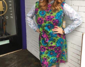 Handsewn Floral Print Dress