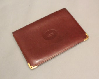 1980's Cartier Burgundy leather Wallet