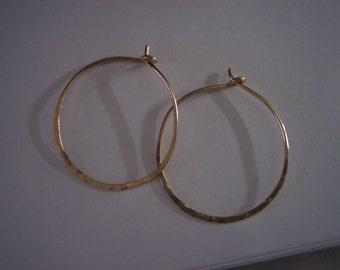 1 1/4 Inch Gold Hoop Earrings