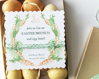 Carrot Easter Brunch Invitation